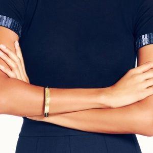 Kate Spade gold idiom mantra bracelet bangle